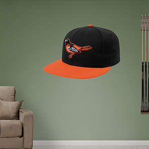 Baltimore Orioles Cap Fathead Wall Decal